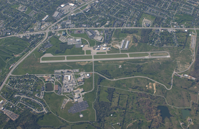 Capital City Airport as seen the air