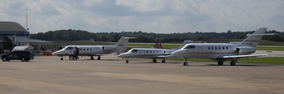 Aircraft parked on tarmac at Capital City Airport